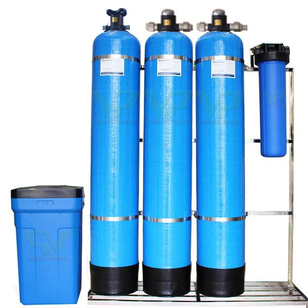 Bộ lọc tổng nước sinh hoạt đầu nguồn bộ 3 cột composite 1054